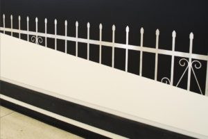 gard metalic obtinut prin taiere cu jet de apa