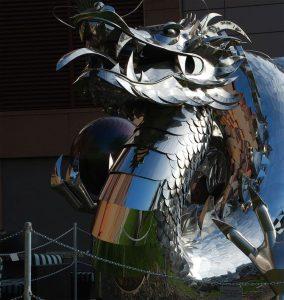 cap dragon din otel